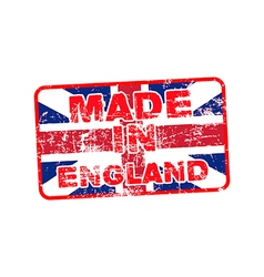 grunge rubber stamp with text Made in England vector image
