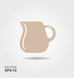 jug of milk icon vector image