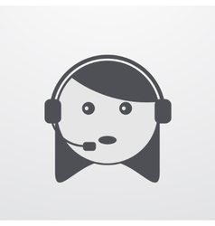 modern support woman icon on white vector image