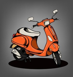 Orange Scooter vector image