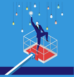 reaching a goal in business concept vector image vector image