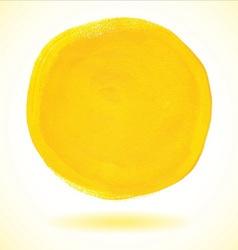 Yellow acrylic paint circle vector image vector image