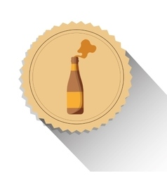 bottle beer drink alcohol label shadow vector image vector image