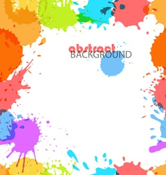 Color ink blots vector image