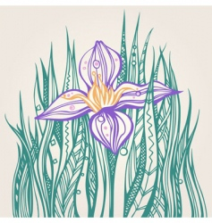 decorative drawing of a flower vector image