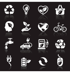 Ecology icons set1 vector image vector image