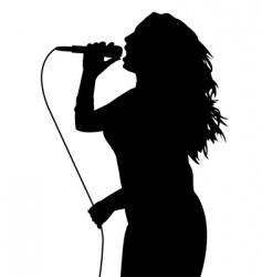 female singing vector image