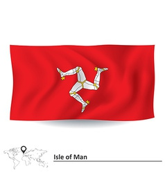 Flag of Isle of Man vector image vector image