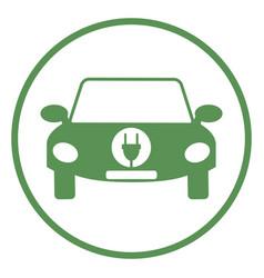 logo of electric car vector image