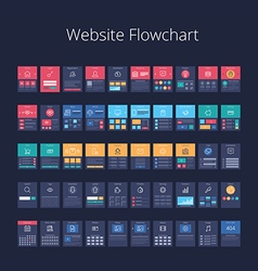 Website flowchart 01 vector