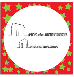 arc de triomphe paris outline vector image vector image