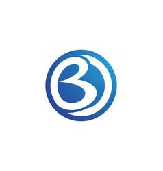 b letter logo icon design template vector image
