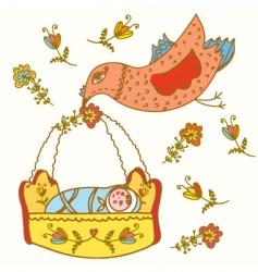 bird baby vector image vector image