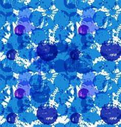 blue ink blots vector image vector image