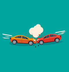 car crash banner vector image