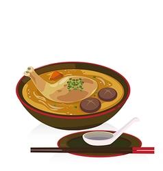 chiken soup vector image