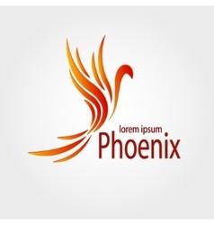 Colorful Phoenix logotype Stock vector image vector image