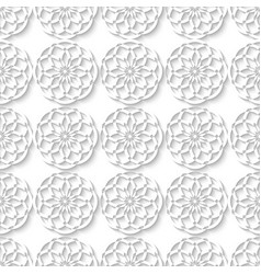 Floral muslim seamless decorative ornament white vector image vector image