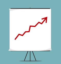 Growing chart presentation vector
