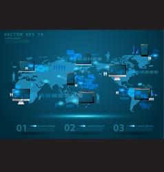 Modern global business technology concept vector image