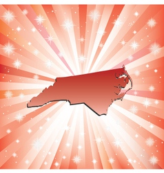 Red North Carolina vector image