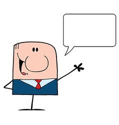 Talking Caucasian Businessman vector image vector image