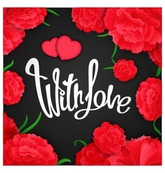 With love quote poster vector