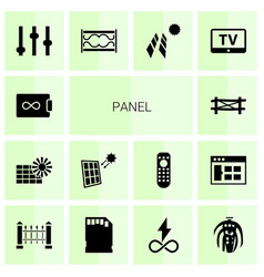 14 panel icons vector