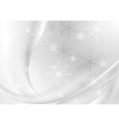 Abstract grey pearl wavy Christmas background vector