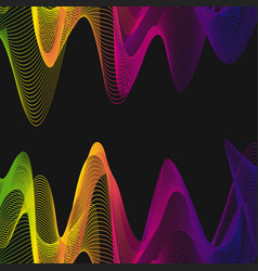background template with colorful wavy lines vector image