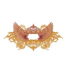 Baroque emblem vector