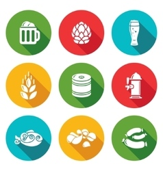 Beer and appetizer Icons Set vector