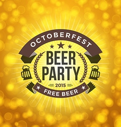 Beer Party Octoberfest Celebration Retro Style vector