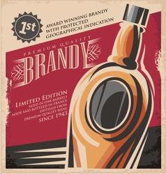 Brandy vintage poster design template vector image