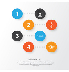 Business icons set collection of cv coaching vector