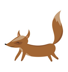 cartoon fox fox drawing vector image