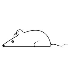 cartoon mouse rat symbol 2020 contours vector image
