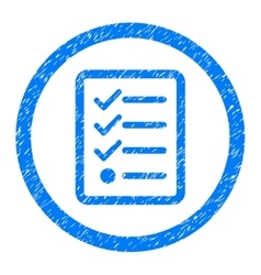 Checklist Rounded Icon Rubber Stamp vector