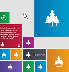 Christmas tree icon sign buttons Modern interface vector