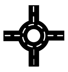 Circular intersection icon simple style vector