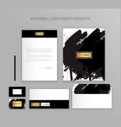 Corporate identity business set modern stationery vector