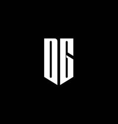 dg logo monogram with emblem style isolated vector image