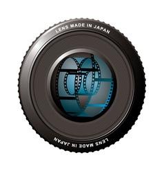Digital camera lens vector