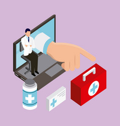 Digital health concept vector
