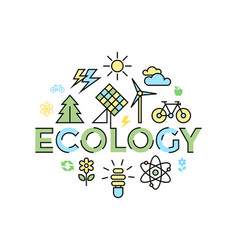 Digital yellow blue ecology vector
