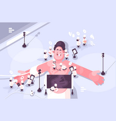 doctors treating different diseases patient vector image