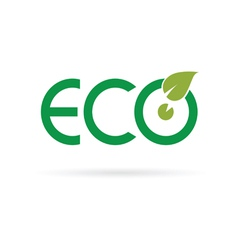 eco sign color vector image