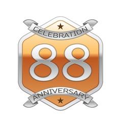 Eighty eight years anniversary celebration silver vector