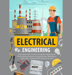 Engineer or electrician job energetics industry vector