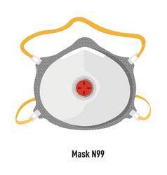 Facial mask n99 respirator for covid19 protection vector